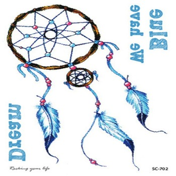 Dreamcatcher Beauty Sticker Disposable Beauty Decal Portable Temporary Tattoo Stickers Waterproof Geometric Fake Tattoos