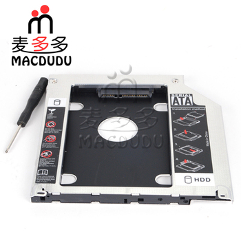 "YENI SATA 2ND Sabit disk sürücüsü SSD HDD Caddy/macbook adaptörü Pro A1278 A1286 A1297 2.5 ""/9.5mm SATA SATA HDD Caddy için 33509"